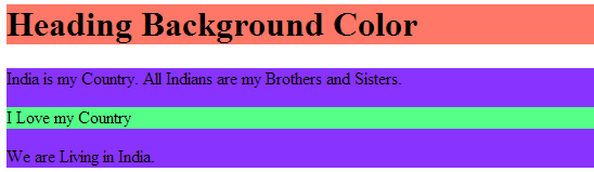 Background Color Property CSS